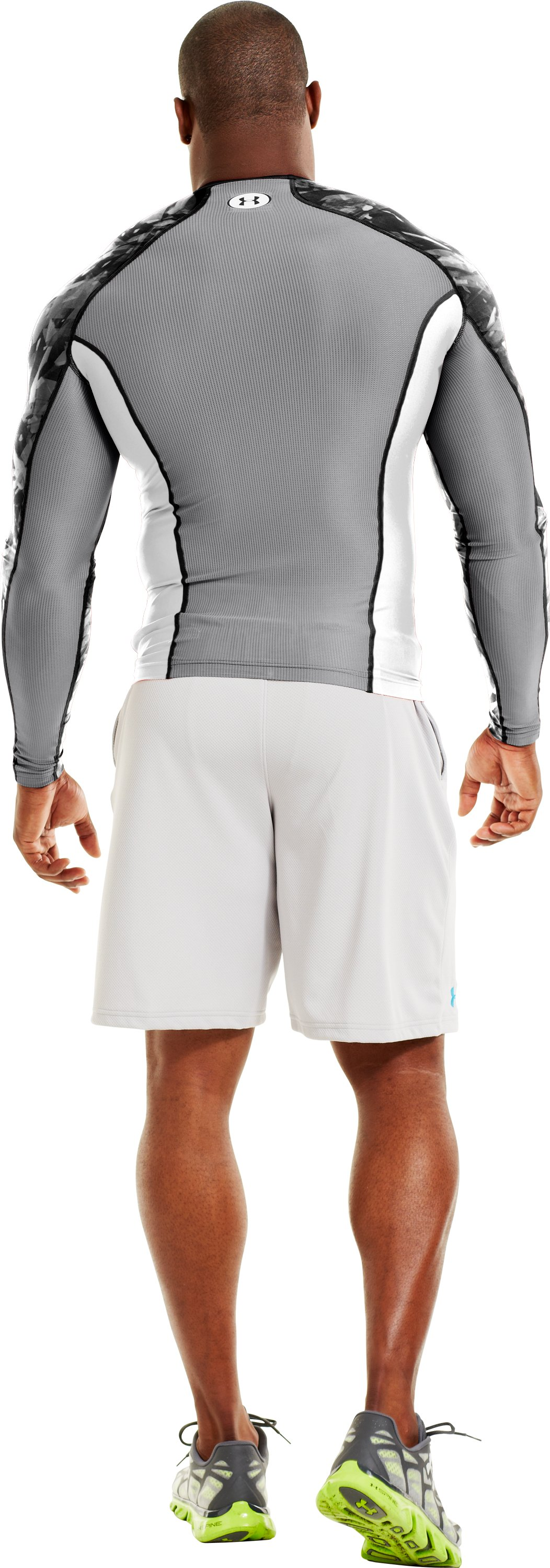 Men's NFL Combine Authentic Compression Long Sleeve, White, Back