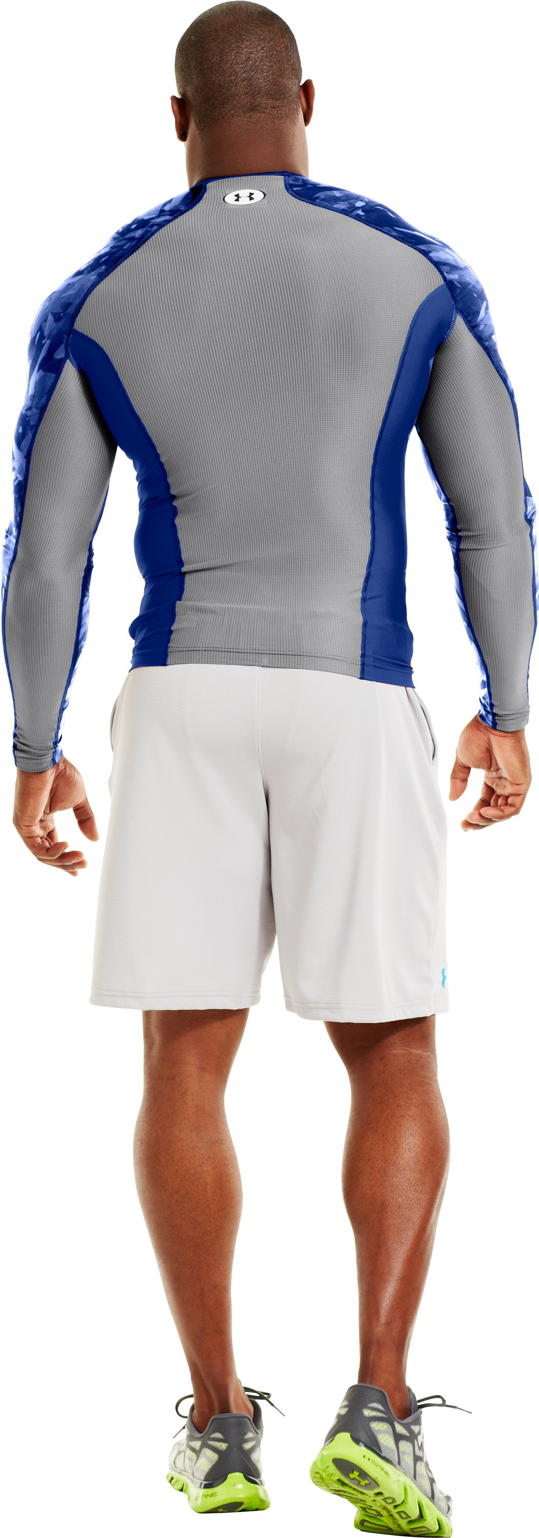 Men's NFL Combine Authentic Compression Long Sleeve, Royal, Back