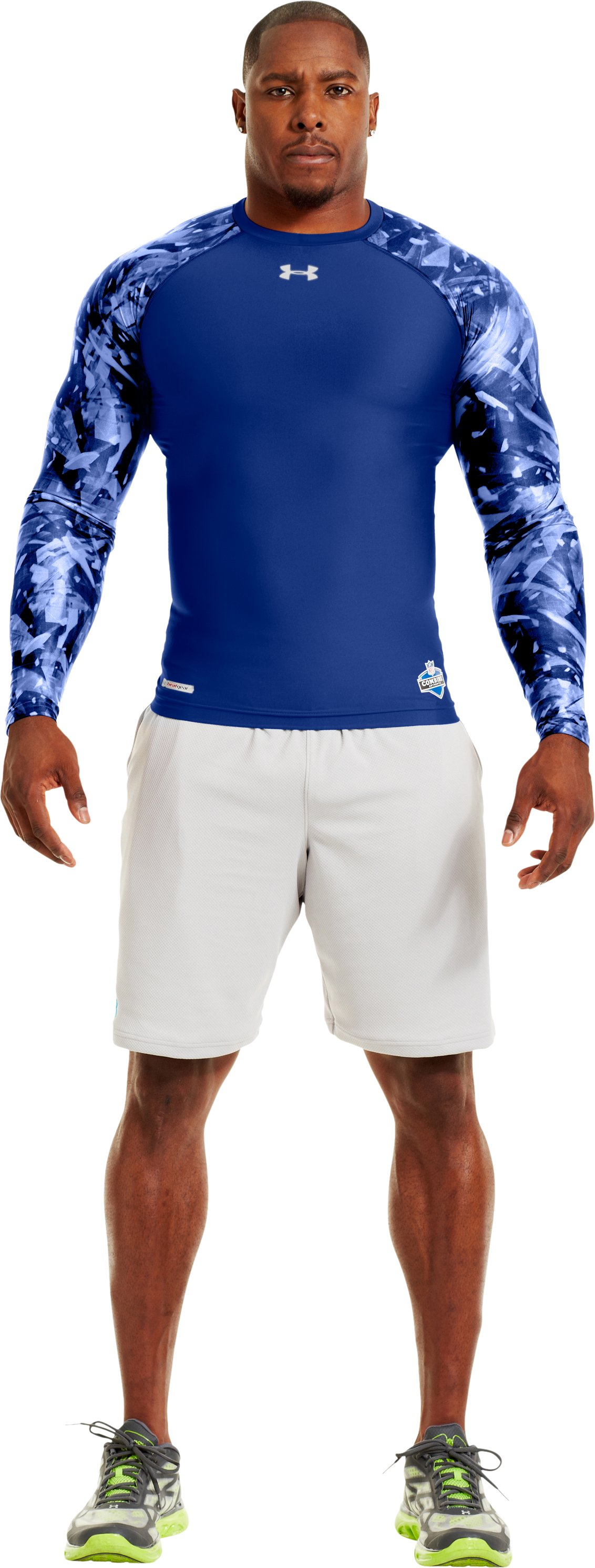 Men's NFL Combine Authentic Compression Long Sleeve, Royal, zoomed image