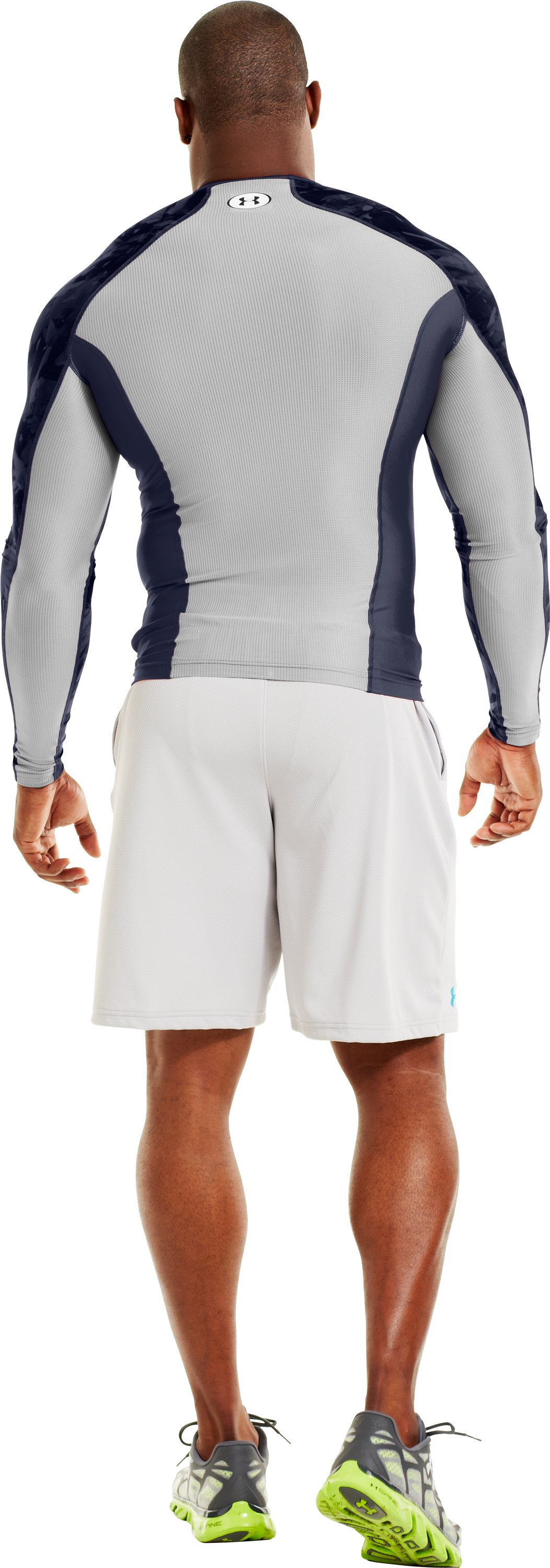 Men's NFL Combine Authentic Compression Long Sleeve, Midnight Navy, Back