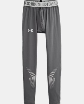 Boys' UA Hockey Grippy Fitted Leggings