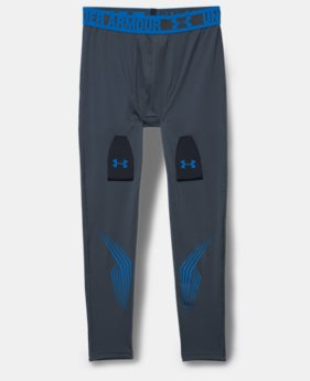 Boys'' UA Hockey Grippy Fitted Leggings