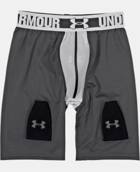Boys' UA Hockey Grippy Fitted Shorts w/ Cup   $49.99