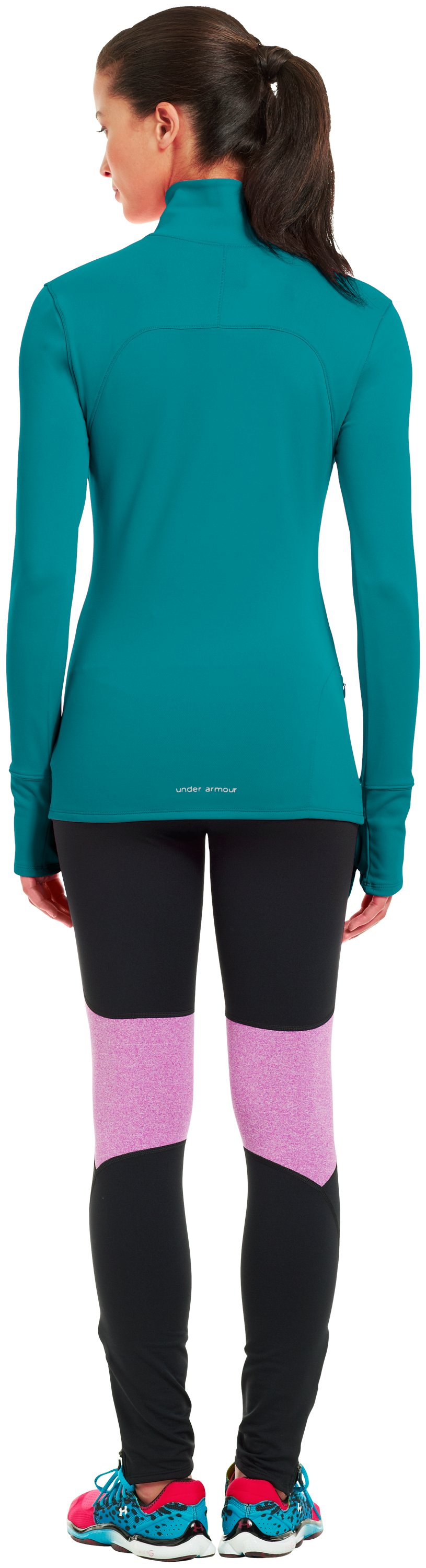 Women's UA Qualifier Knit ¼ Zip, CERULEAN, Back