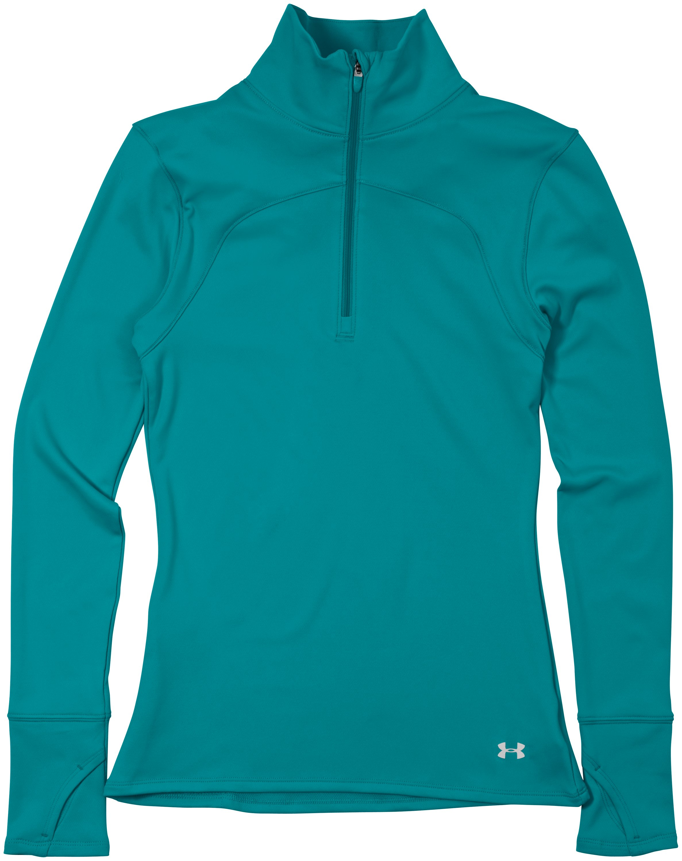 Women's UA Qualifier Knit ¼ Zip, CERULEAN, Laydown