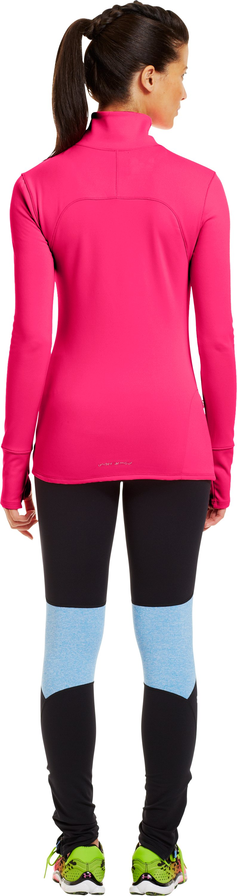 Women's UA Qualifier Knit ¼ Zip, Cerise, Back