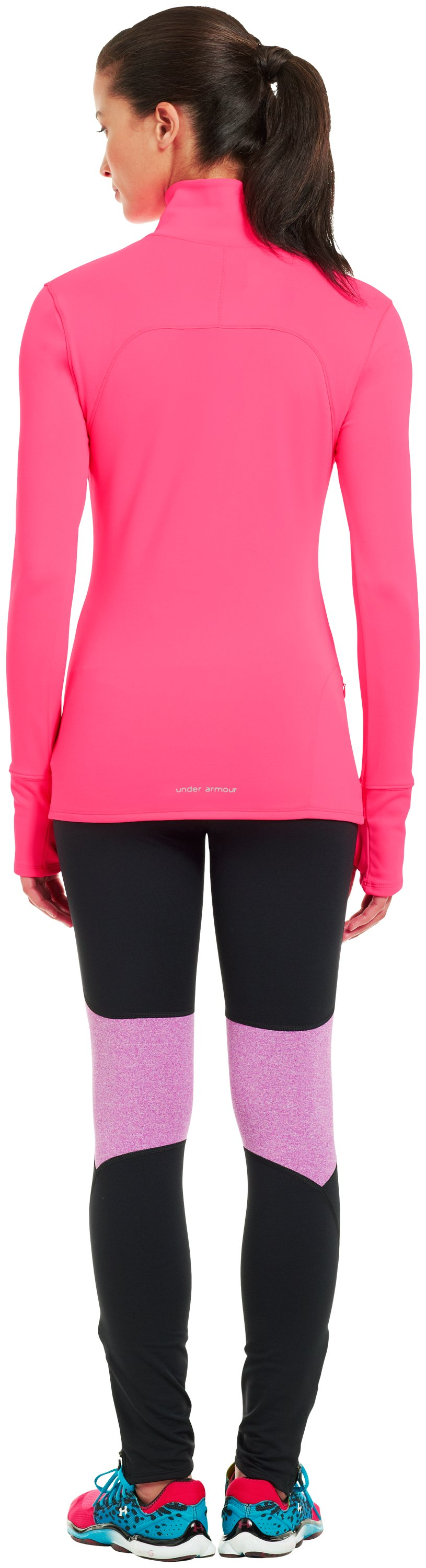 Women's UA Qualifier Knit ¼ Zip, PINKADELIC, Back