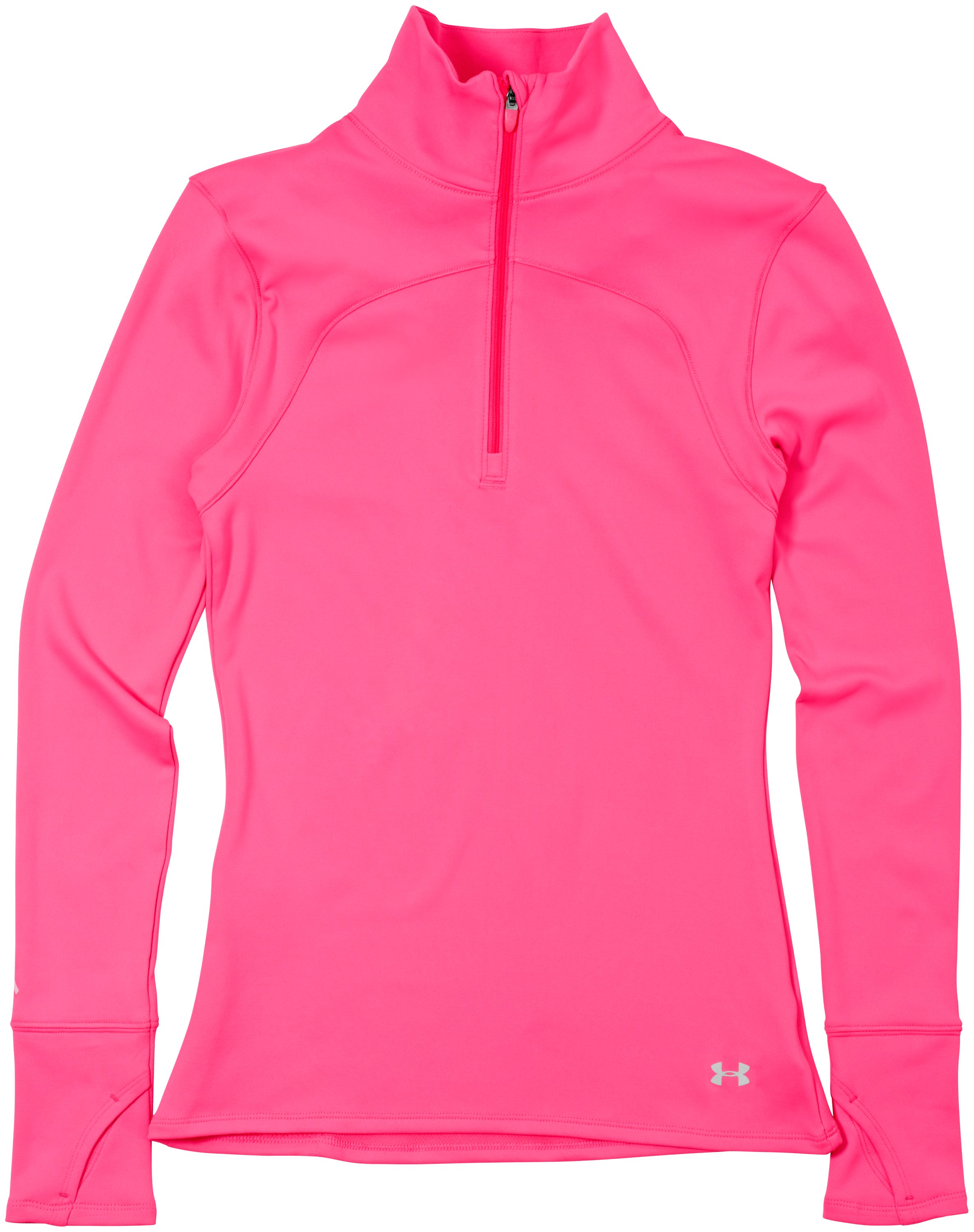 Women's UA Qualifier Knit ¼ Zip, PINKADELIC, Laydown