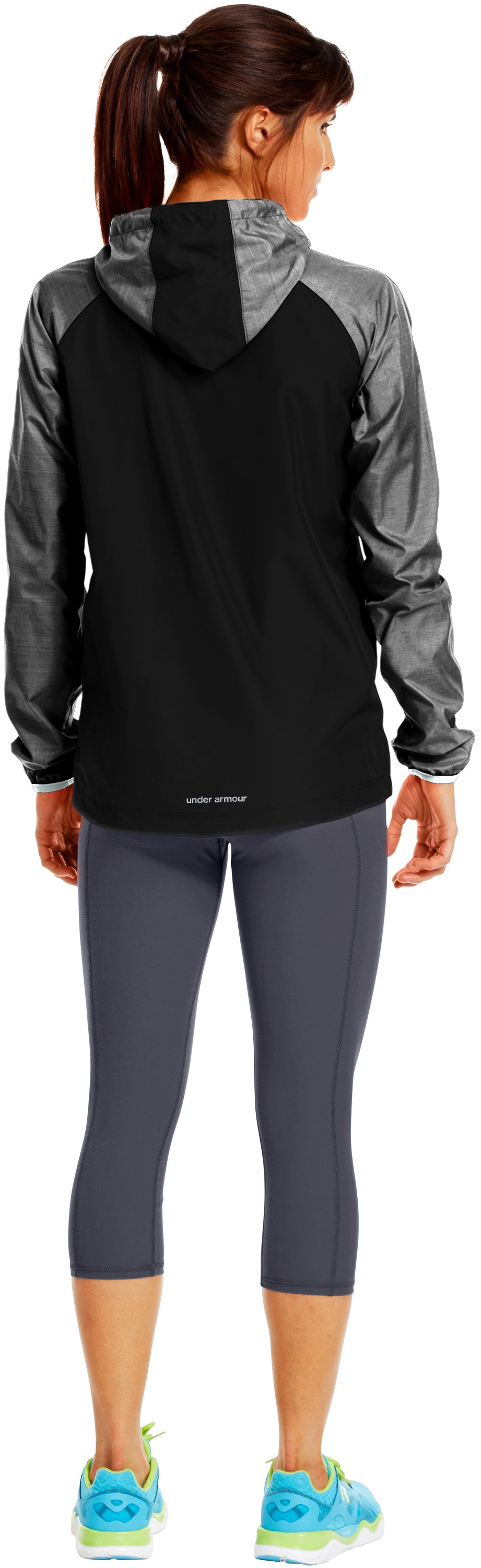 Women's UA Qualifier Woven Jacket, Black , Back