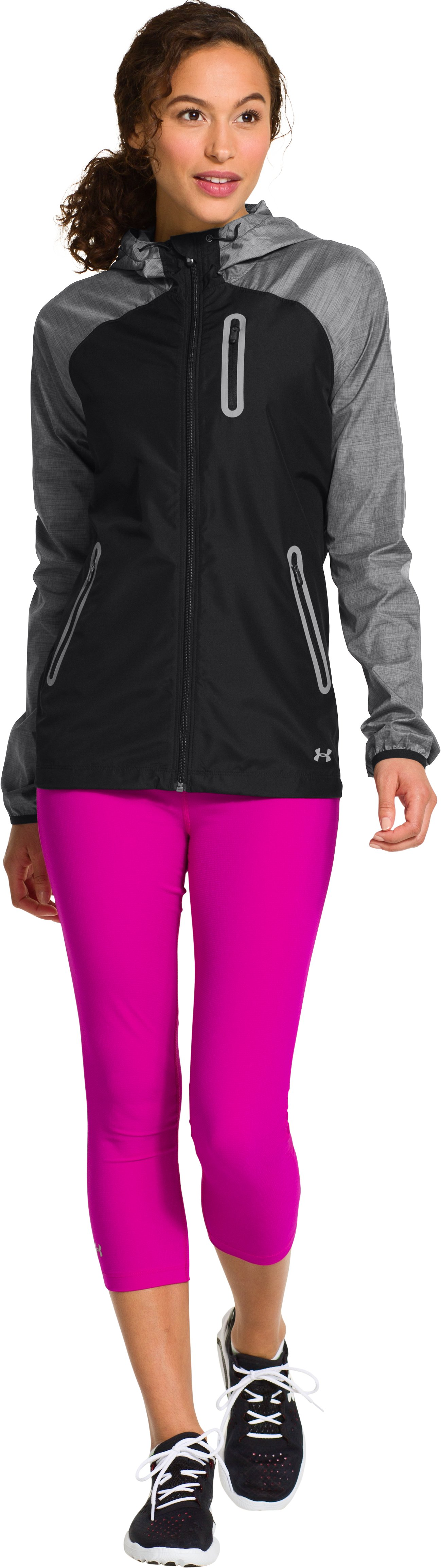 Women's UA Qualifier Woven Jacket, Black , Front