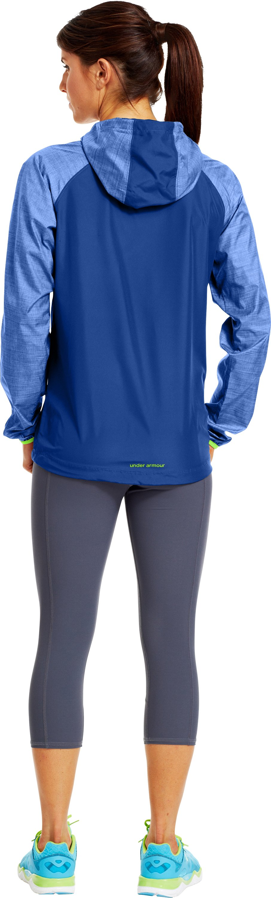 Women's UA Qualifier Woven Jacket, BLU-AWAY, Back