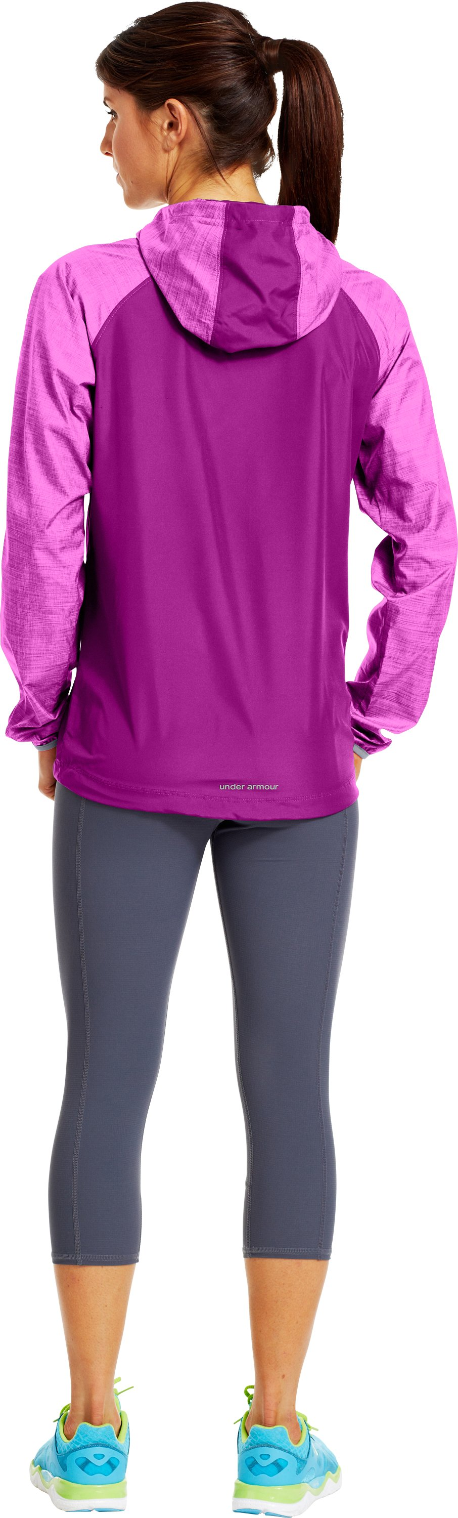 Women's UA Qualifier Woven Jacket, STROBE, Back