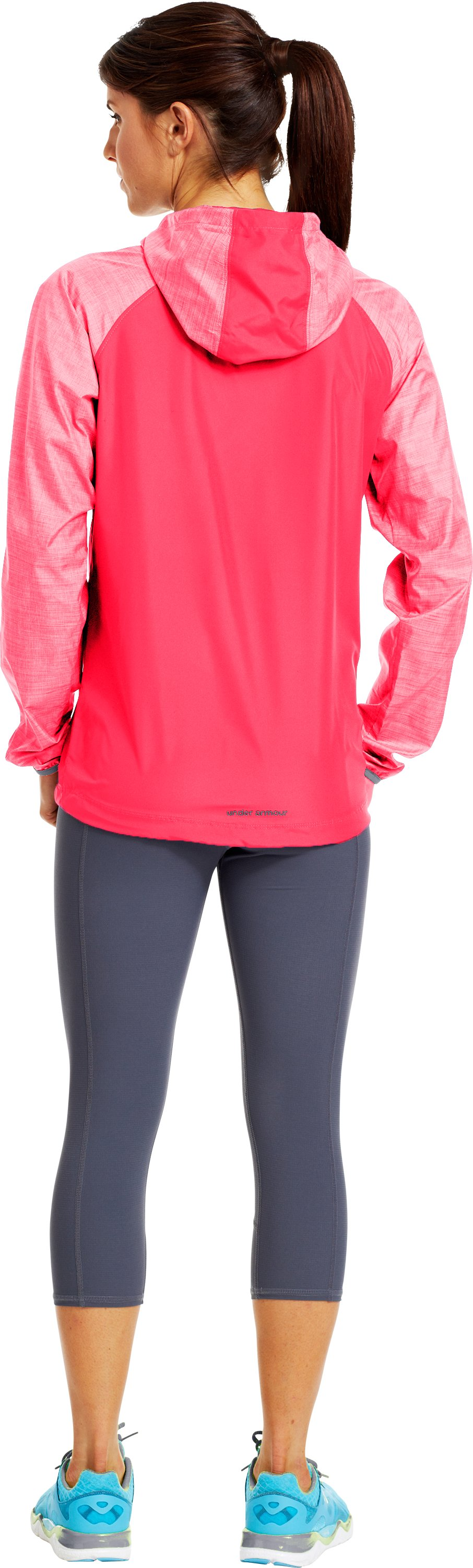 Women's UA Qualifier Woven Jacket, Neo Pulse, Back