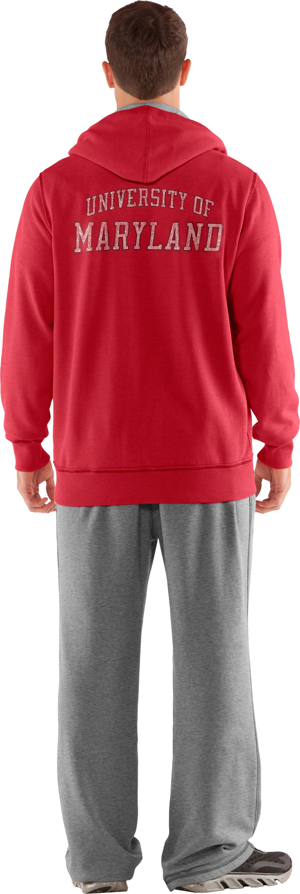 Men's Maryland Under Armour® Legacy Hoodie, Red, Back