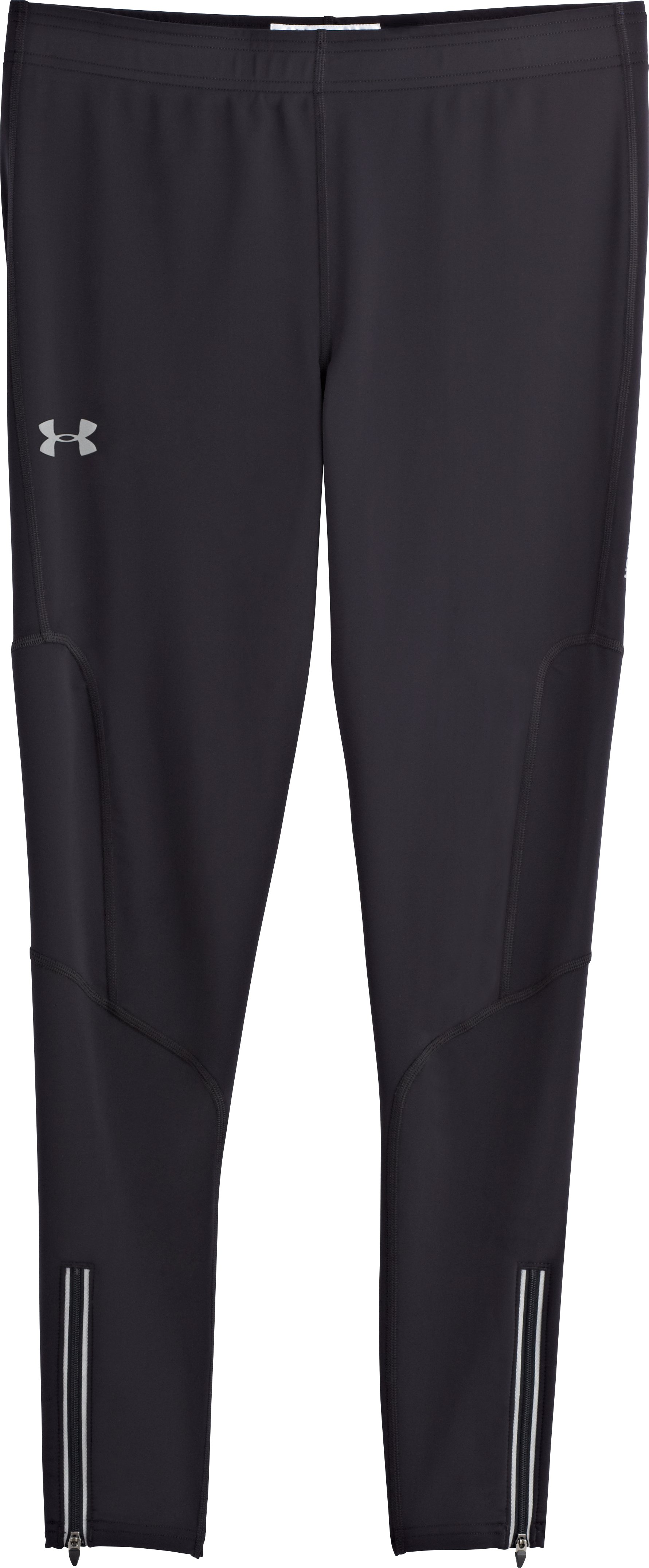 Men's UA Run Compression Leggings, Black , Laydown