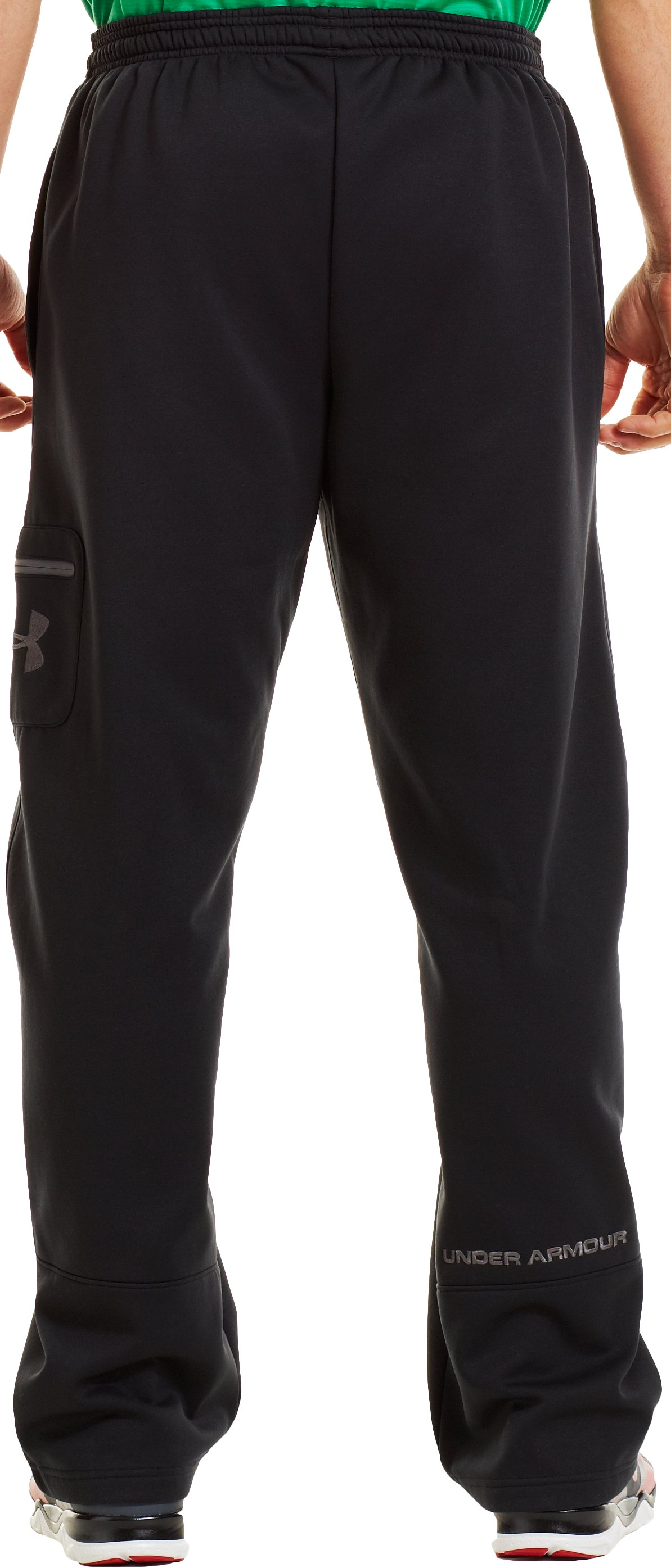 Men's Armour® Fleece Storm Cargo Pocket Pants, Black