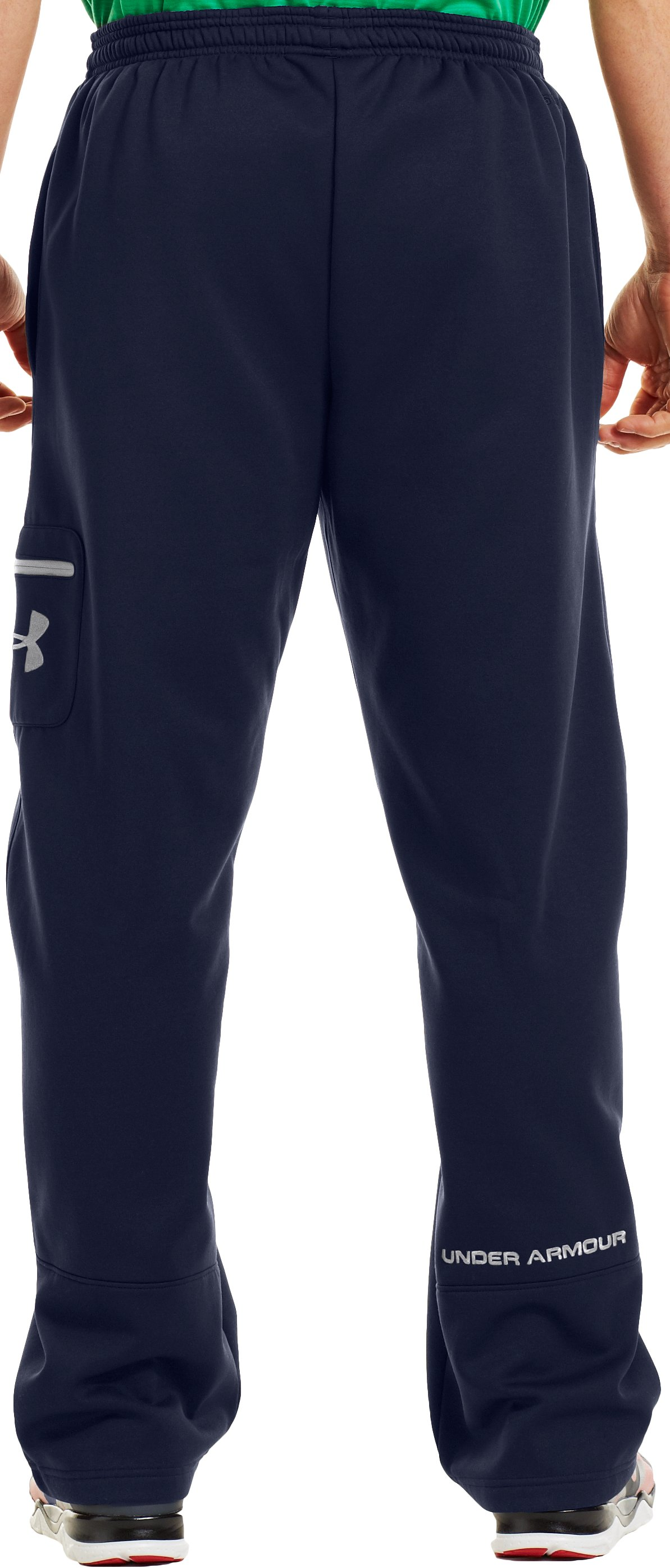 Men's Armour® Fleece Storm Cargo Pocket Pants, Midnight Navy