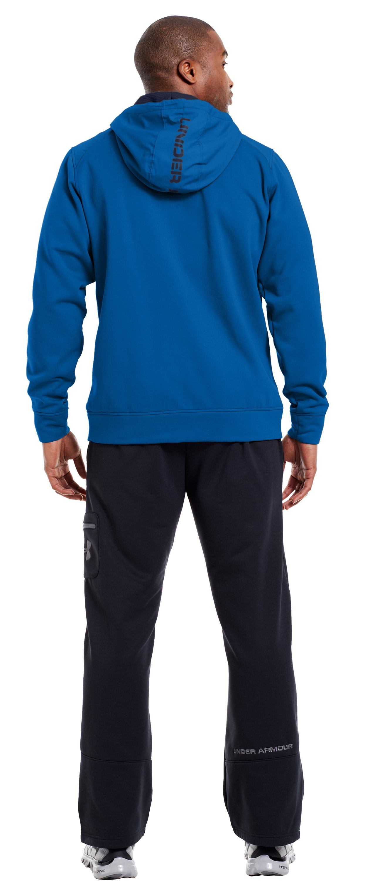 Men's ColdGear® Infrared Armour® Fleece Storm ¼ Zip Hoodie, SUPERIOR BLUE, Back