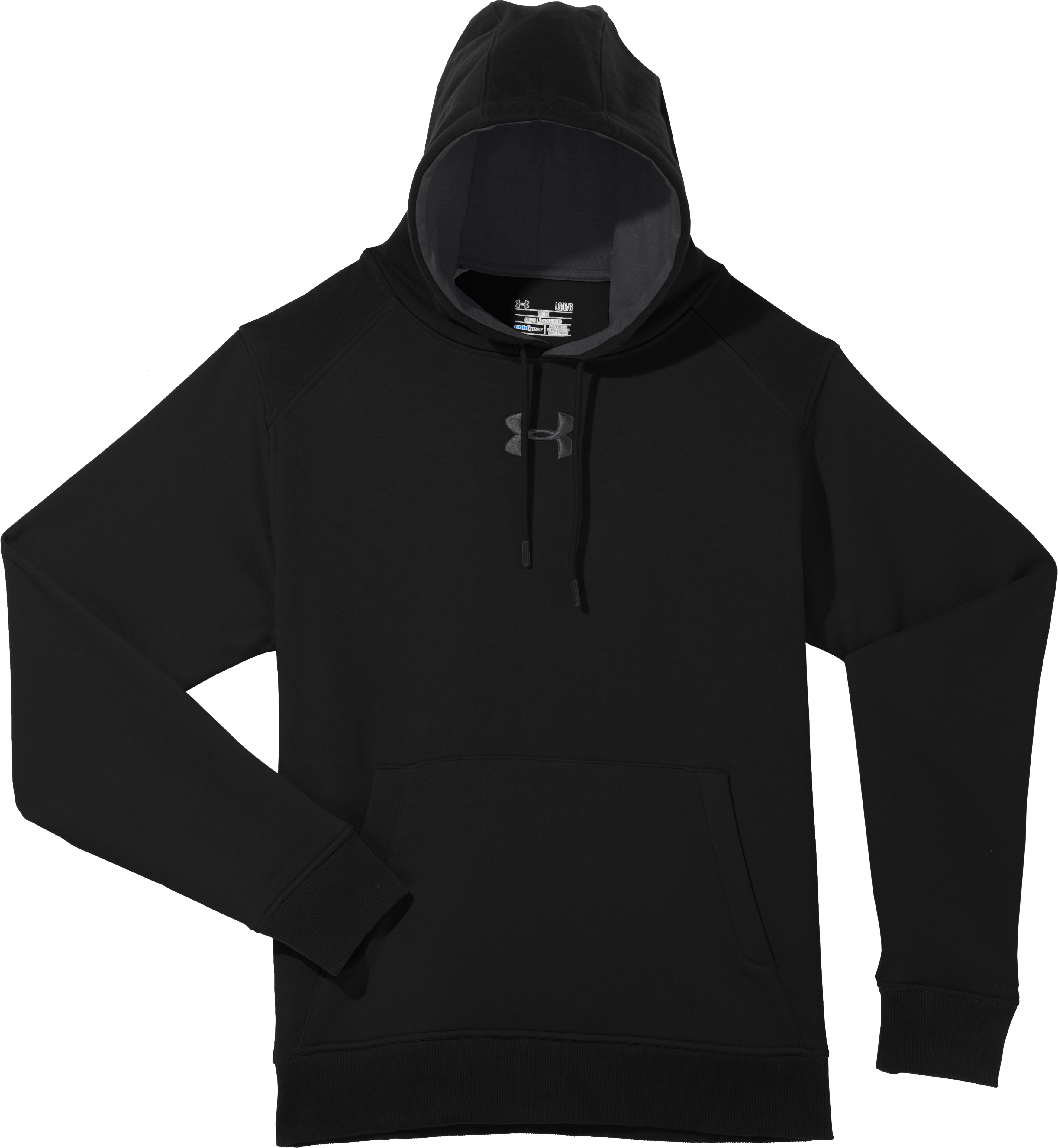 Men's Charged Cotton® Storm Hoodie, Black , Laydown