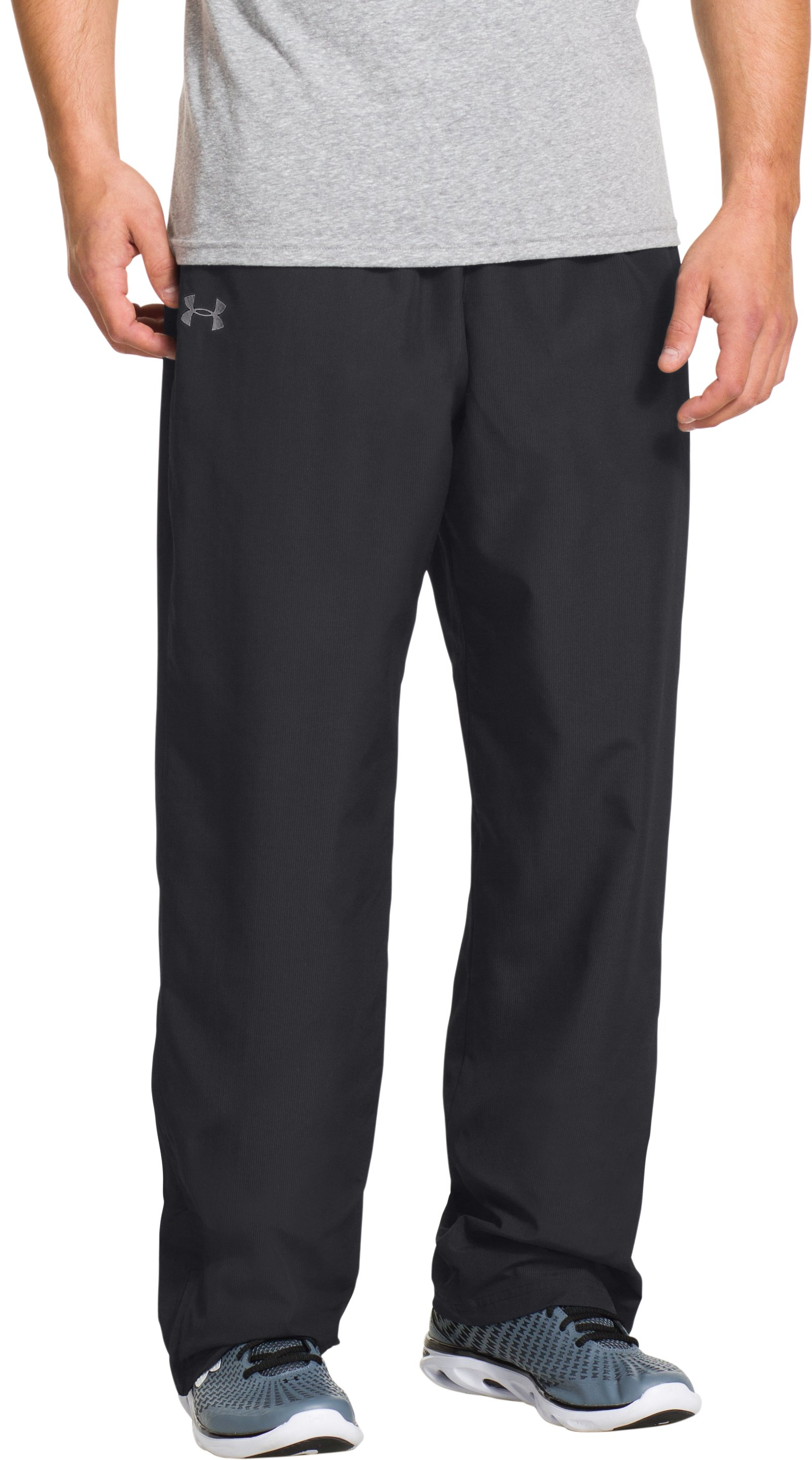 Men's UA Vital Warm-Up Pants, Black , zoomed image