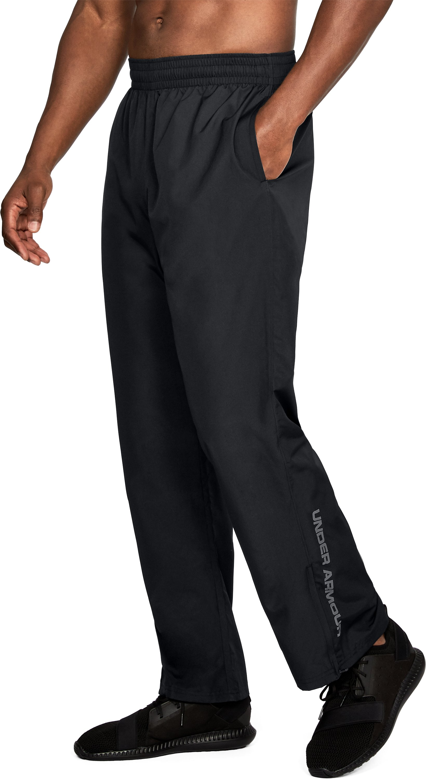 Men's UA Vital Warm-Up Pants, Black ,