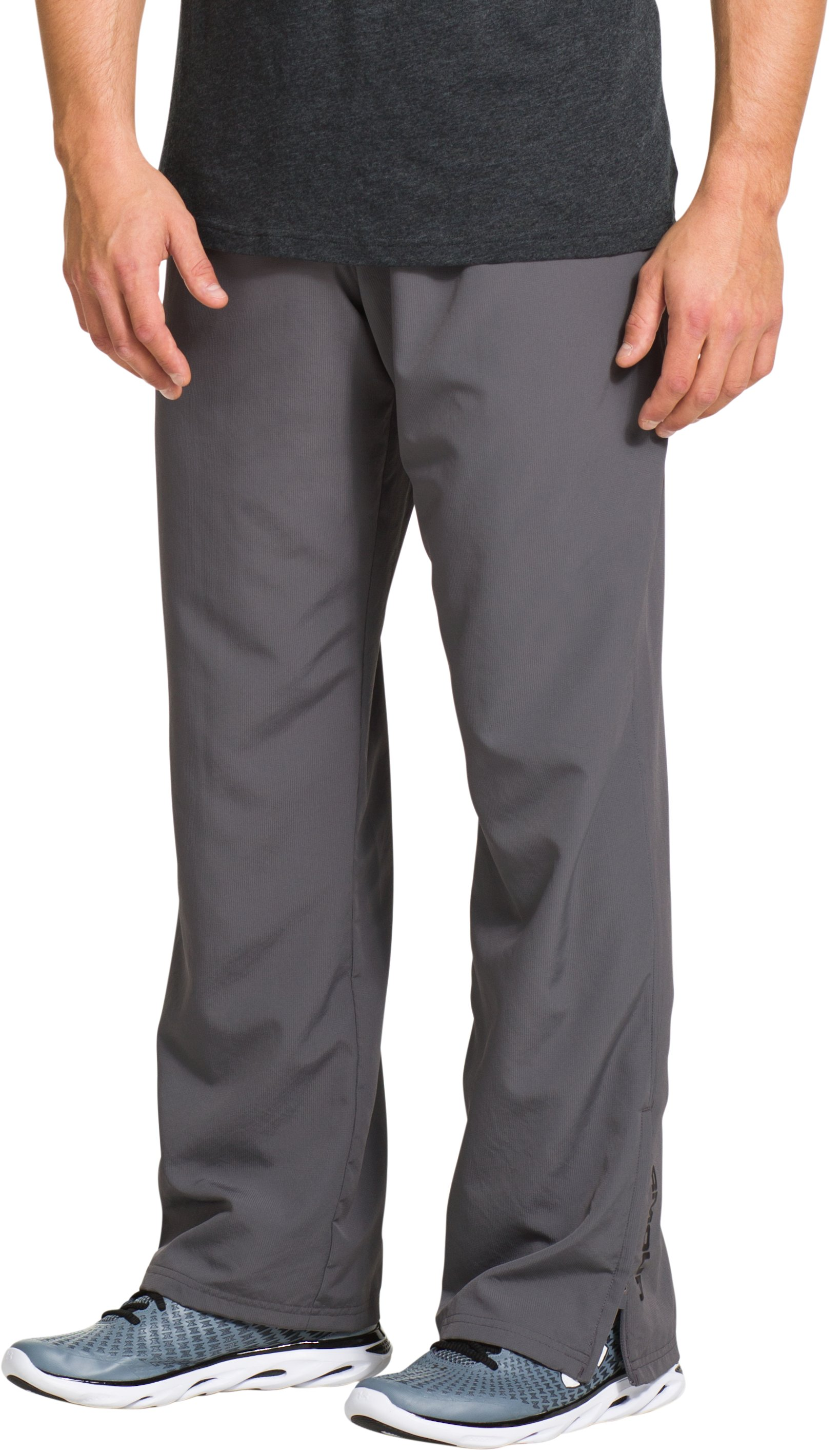 Men's UA Vital Warm-Up Pants, Graphite, zoomed image