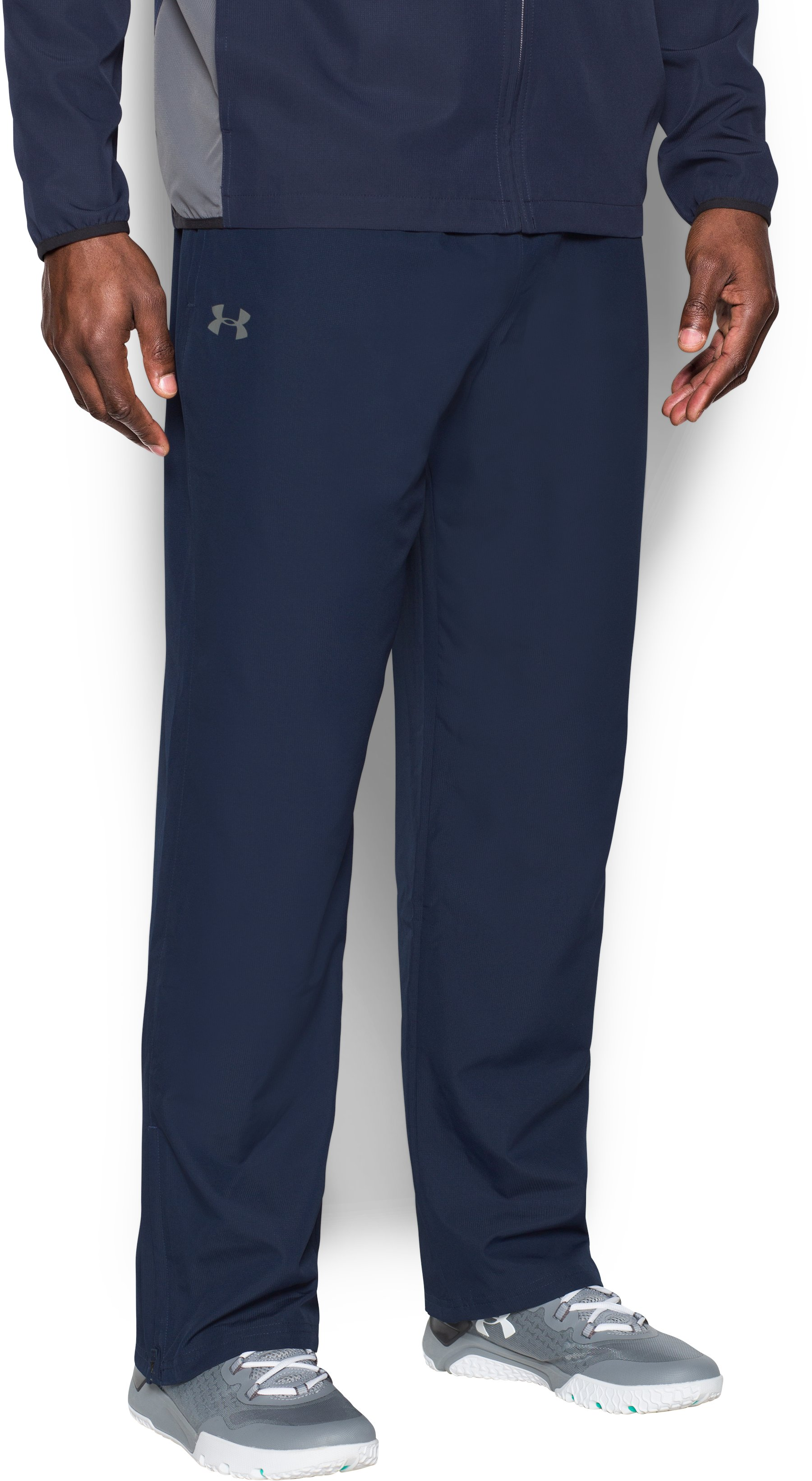 Men's UA Vital Warm-Up Pants, Midnight Navy, zoomed image