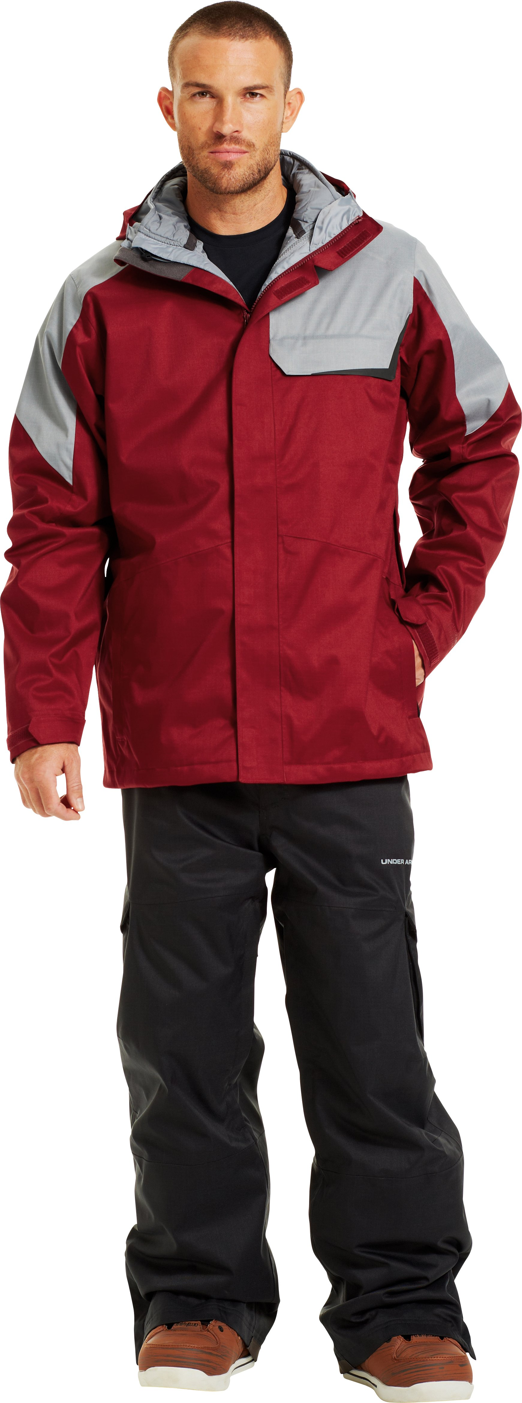 Men's ColdGear® Infrared Tripper 3-in-1 Jacket, CORDOVA, Front