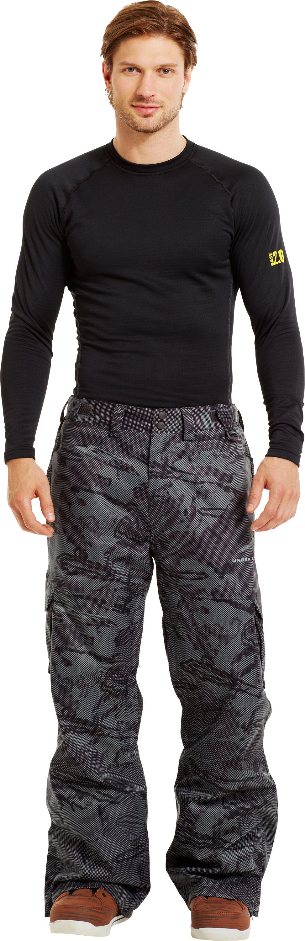 Men's ColdGear® Infrared Snocone Pants, Charcoal, Front