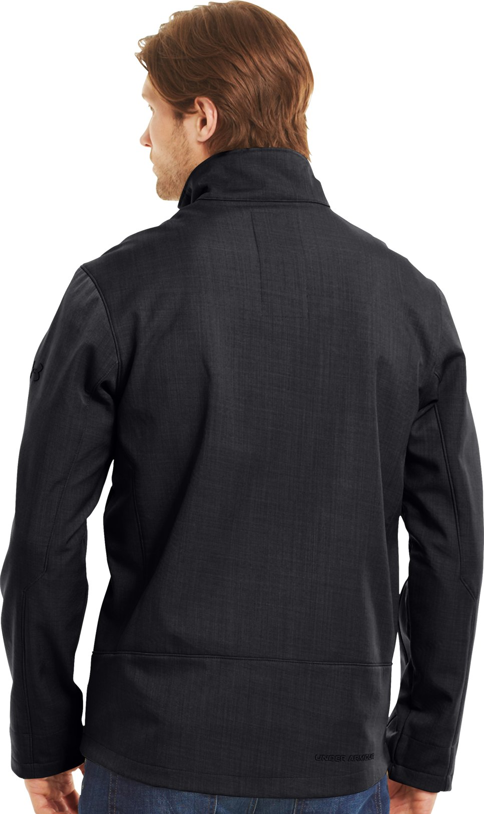 Men's ColdGear® Infrared Radar Softshell, Black , Back