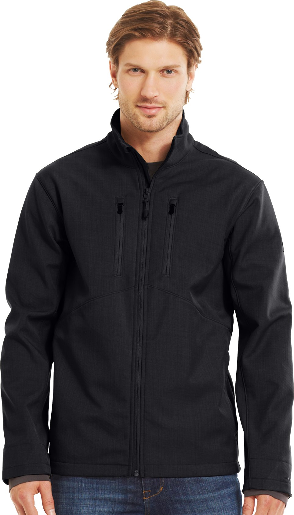 Men's ColdGear® Infrared Radar Softshell, Black , Front