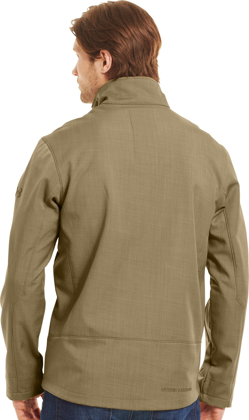 Men's ColdGear® Infrared Radar Softshell, DEER HIDE, Back