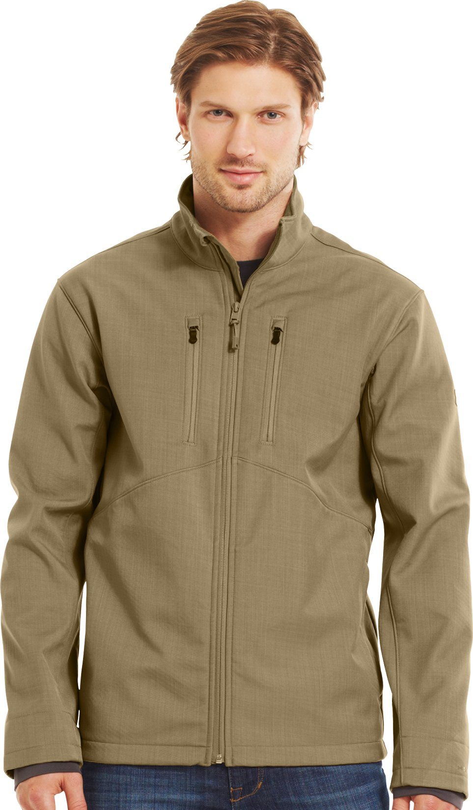 Men's ColdGear® Infrared Radar Softshell, DEER HIDE, Front