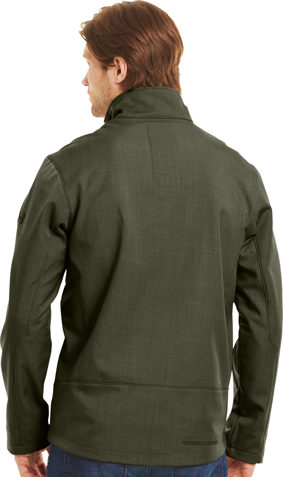 Men's ColdGear® Infrared Radar Softshell, GREENHEAD, Back