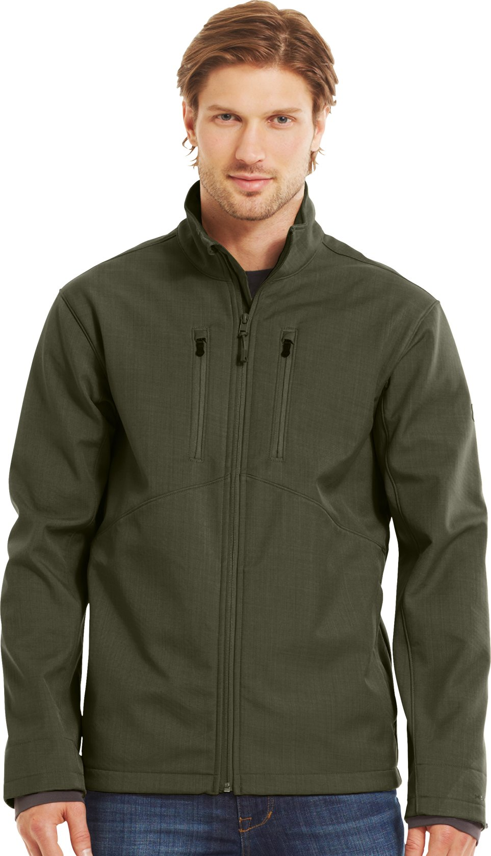 Men's ColdGear® Infrared Radar Softshell, GREENHEAD, Front