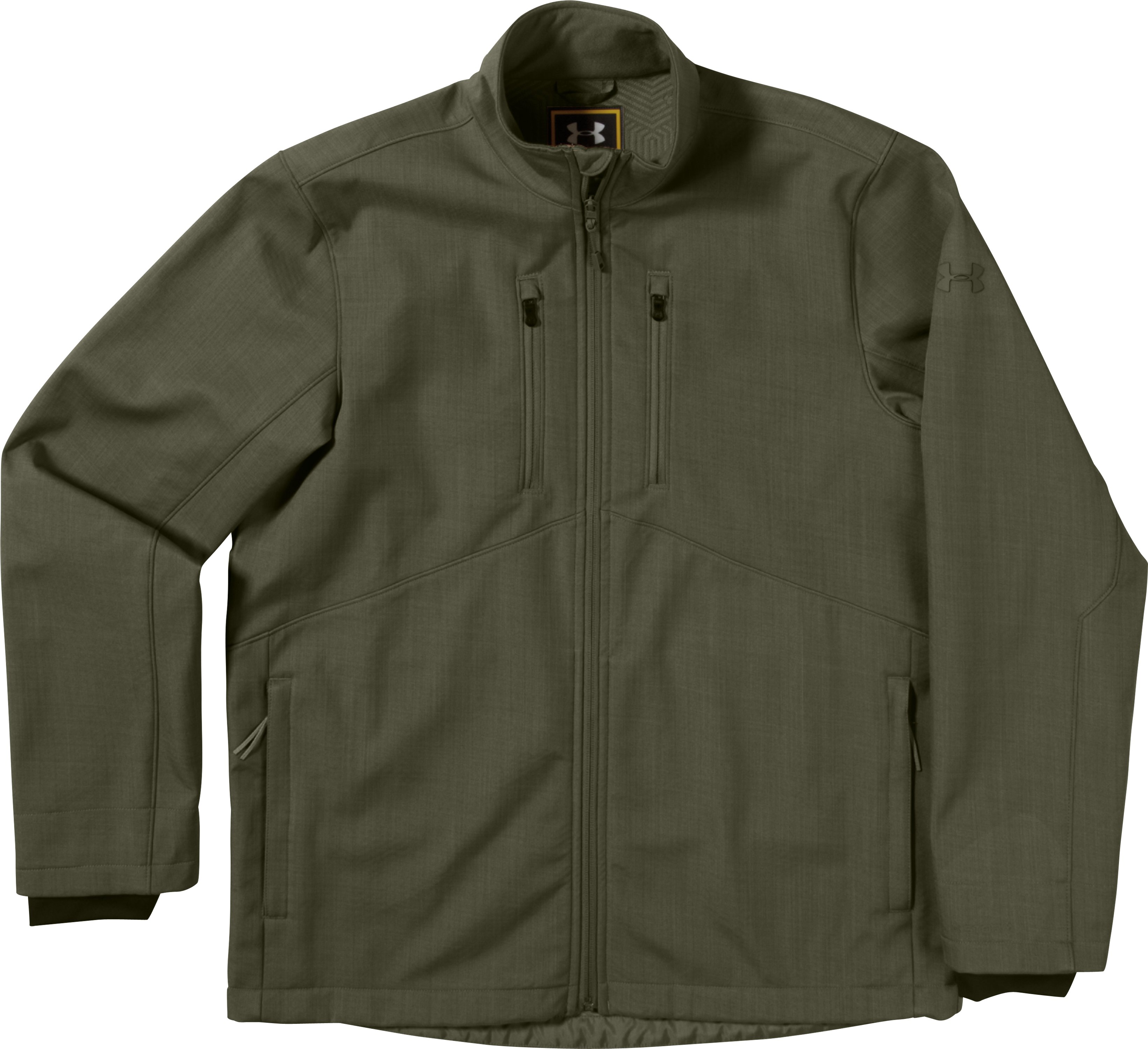 Men's ColdGear® Infrared Radar Softshell, GREENHEAD, Laydown