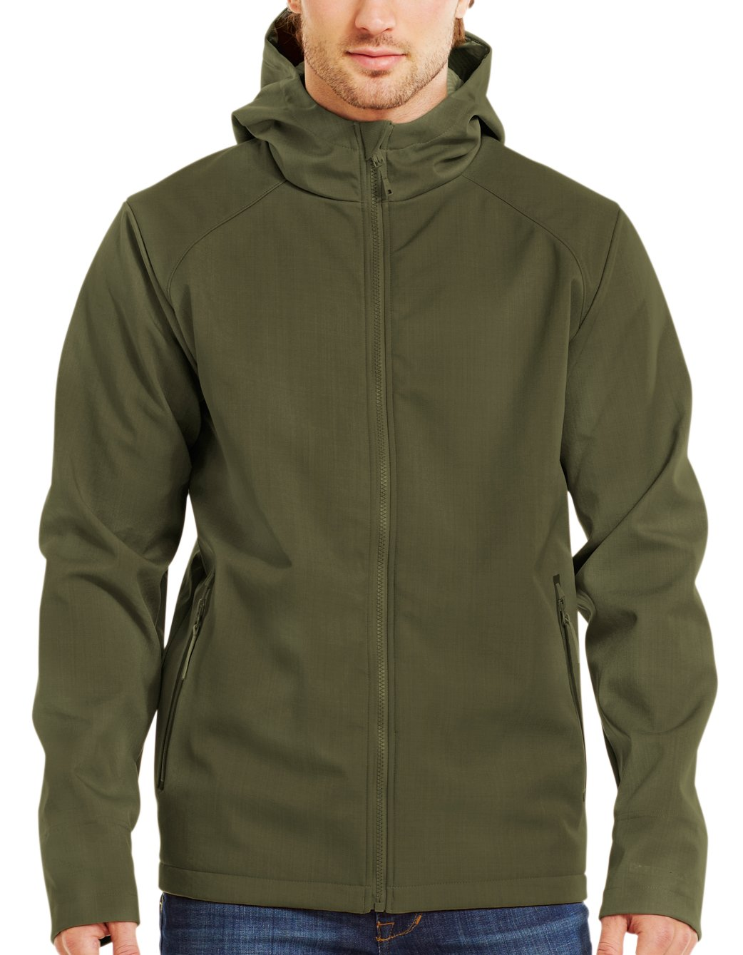 Men's ColdGear® Infrared Receptor Softshell, GREENHEAD, Front