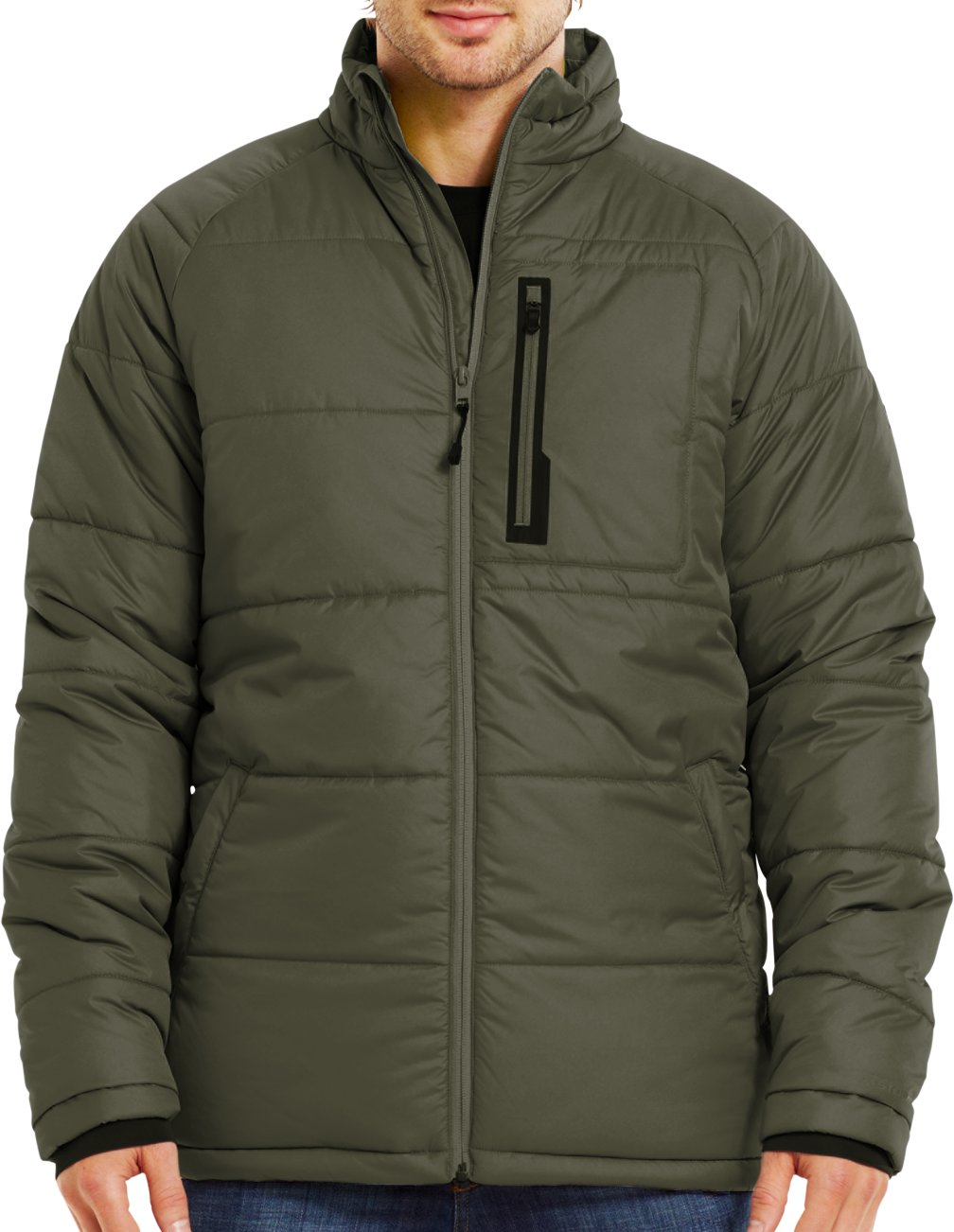 Men's ColdGear® Infrared Alpinlite Max Jacket, GREENHEAD, Front