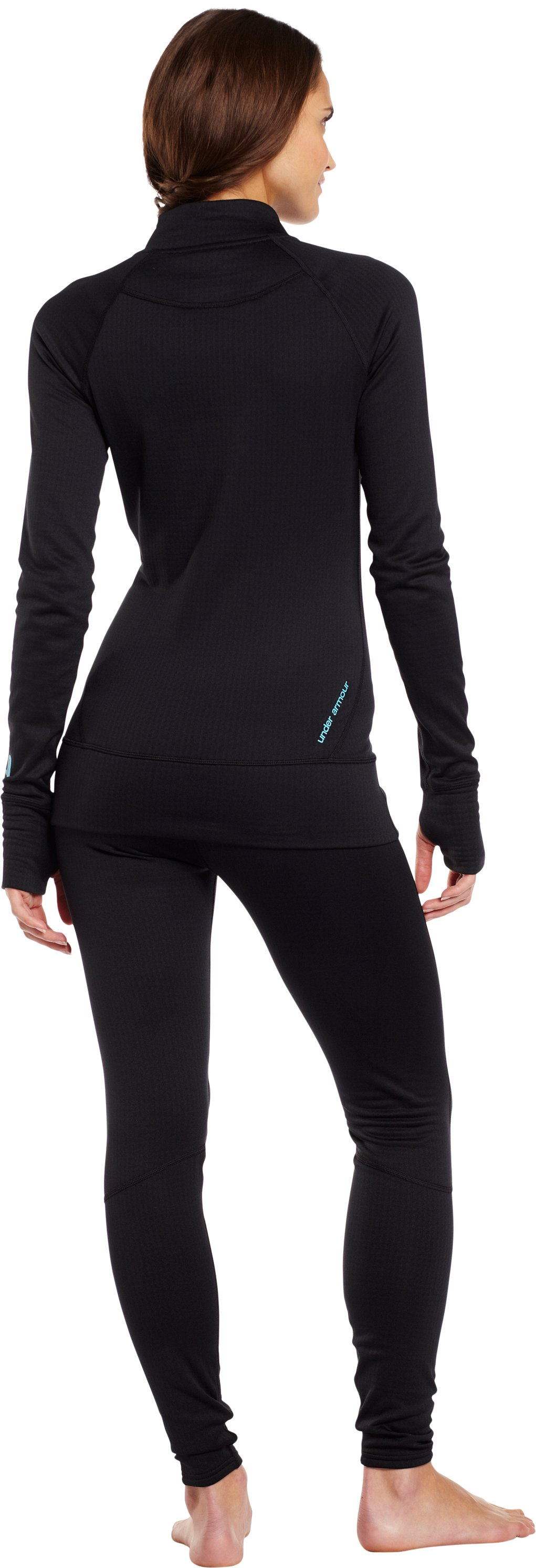 Women's UA Base™ 2.0 ¼ Zip, Black , Back