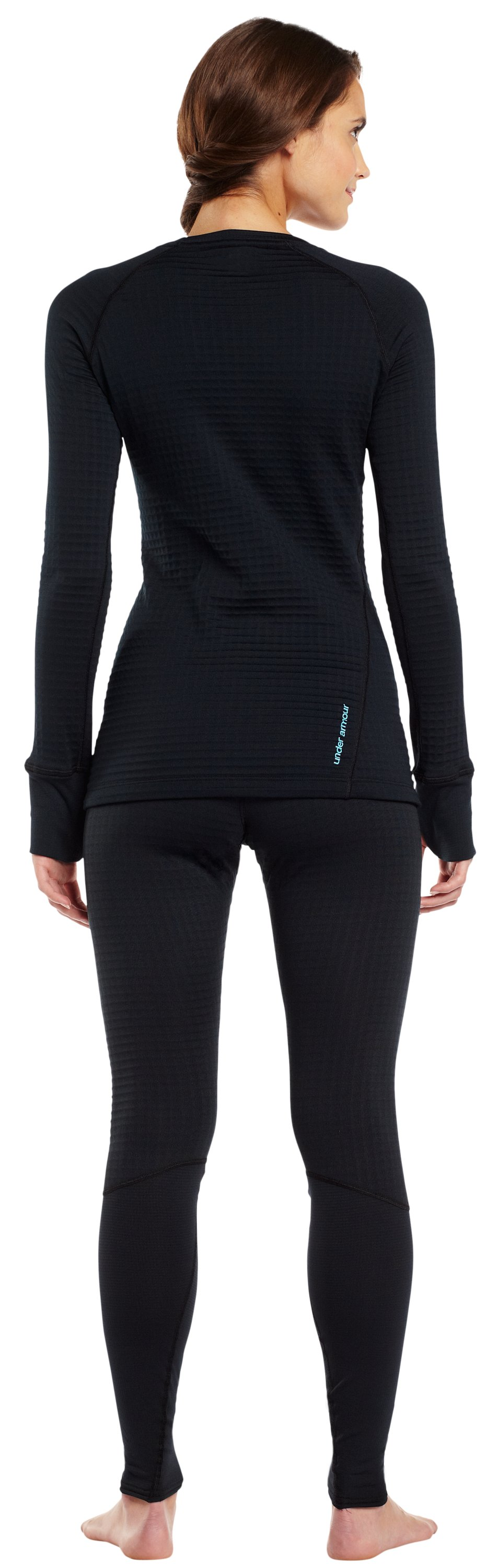 Women's UA Base™ 4.0 Crew, Black , Back
