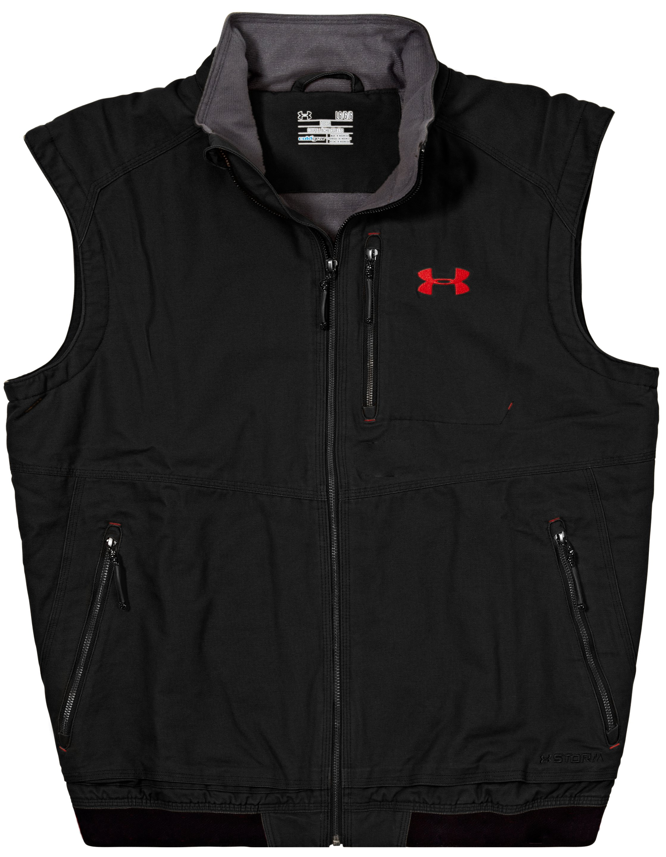 Men's UA Burley Vest, Black , Laydown