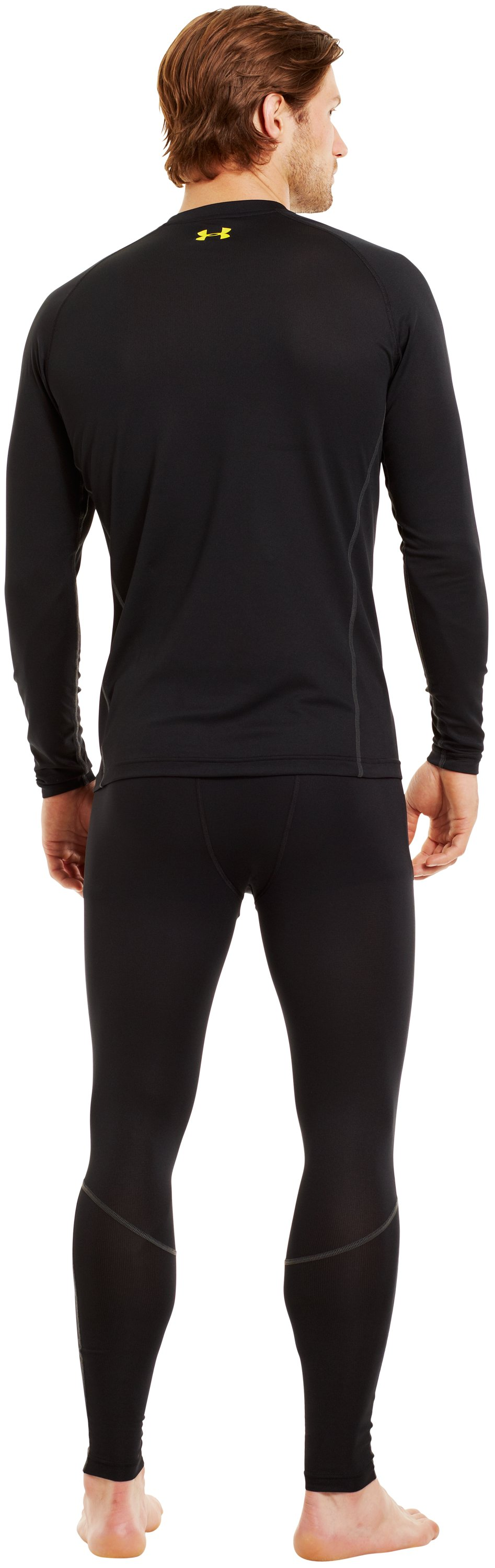 Men's UA Base™ 1.0 Crew, Black , Back
