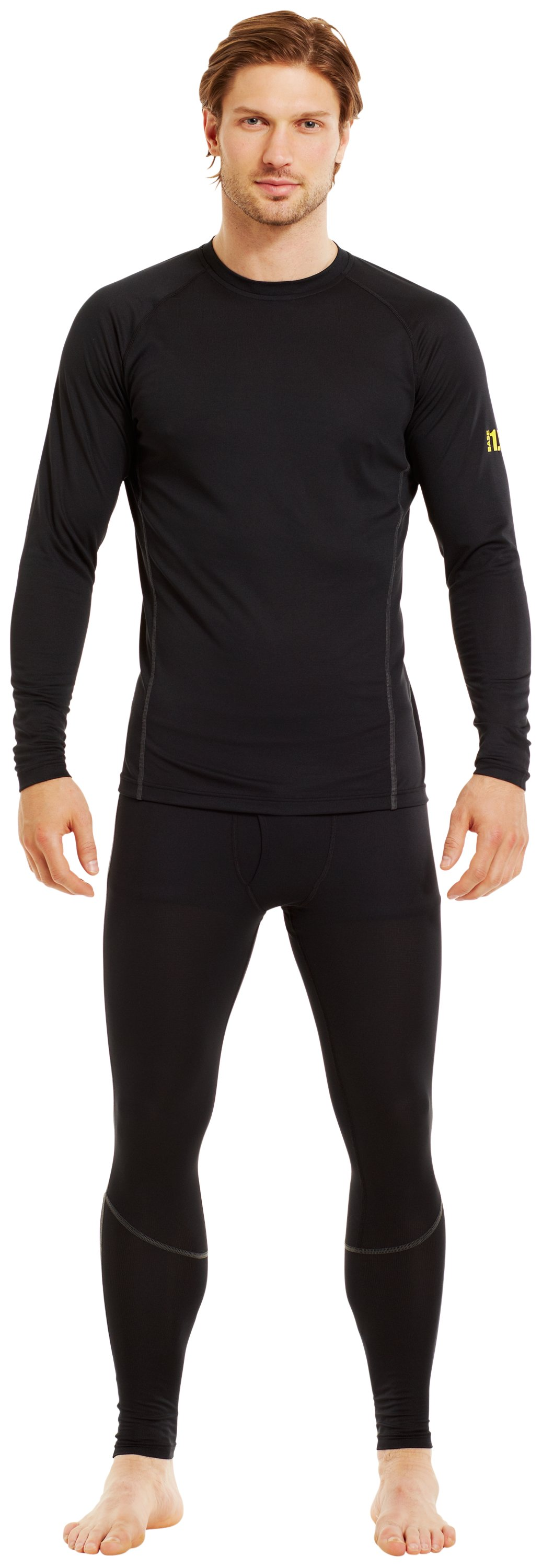 Men's UA Base™ 1.0 Crew, Black , zoomed image