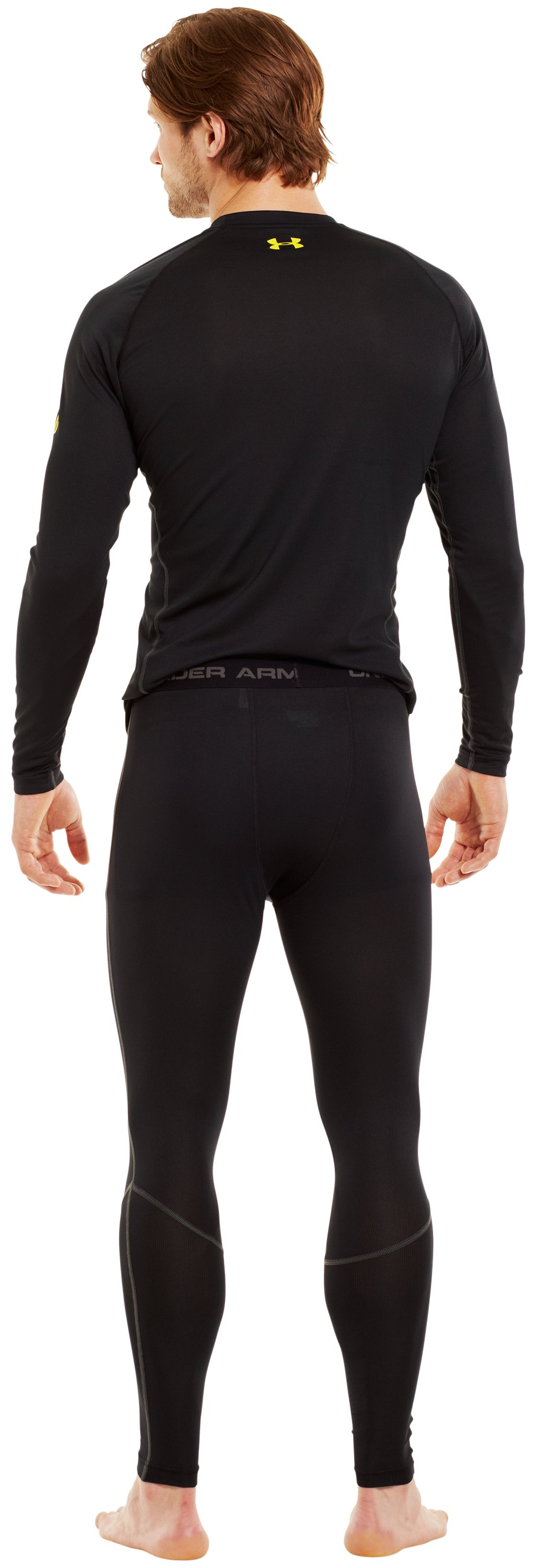 Men's UA Base™ 1.0 Leggings, Black , Back