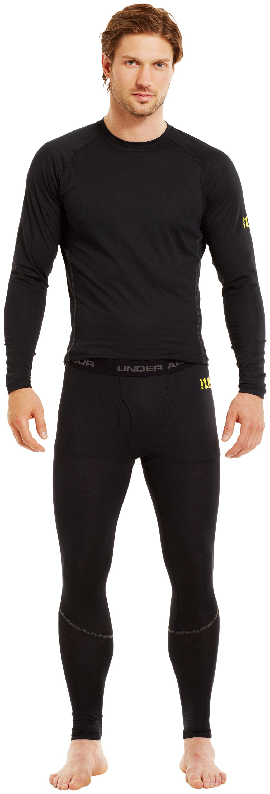 Men's UA Base™ 1.0 Leggings, Black , Front