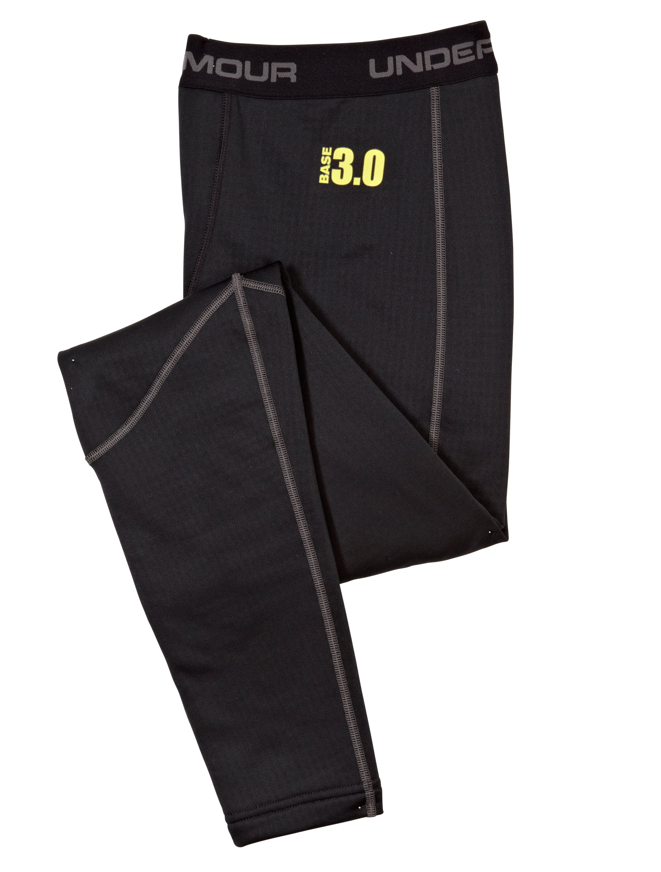 Men's UA Base™ 3.0 Leggings, Black , Laydown