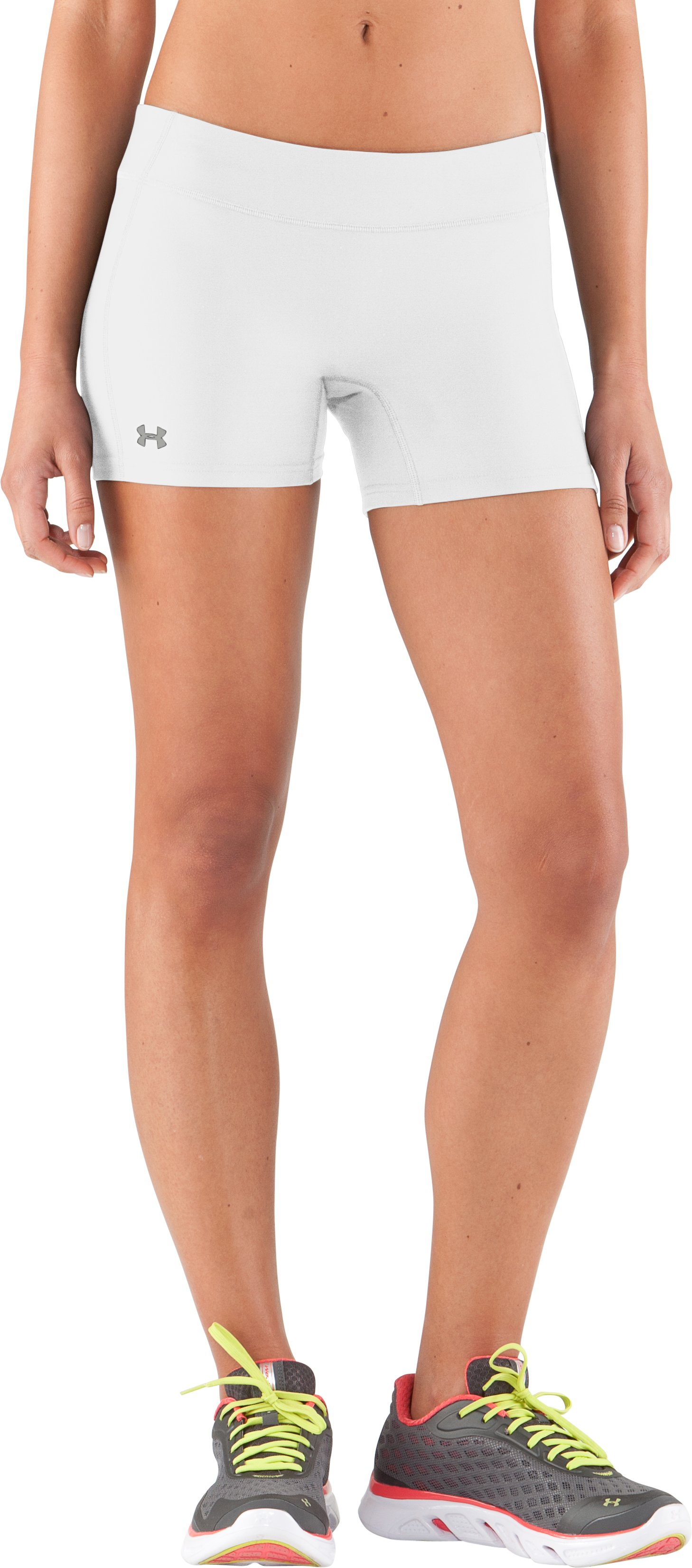 Women's UA Authentic Shorty, White, zoomed image