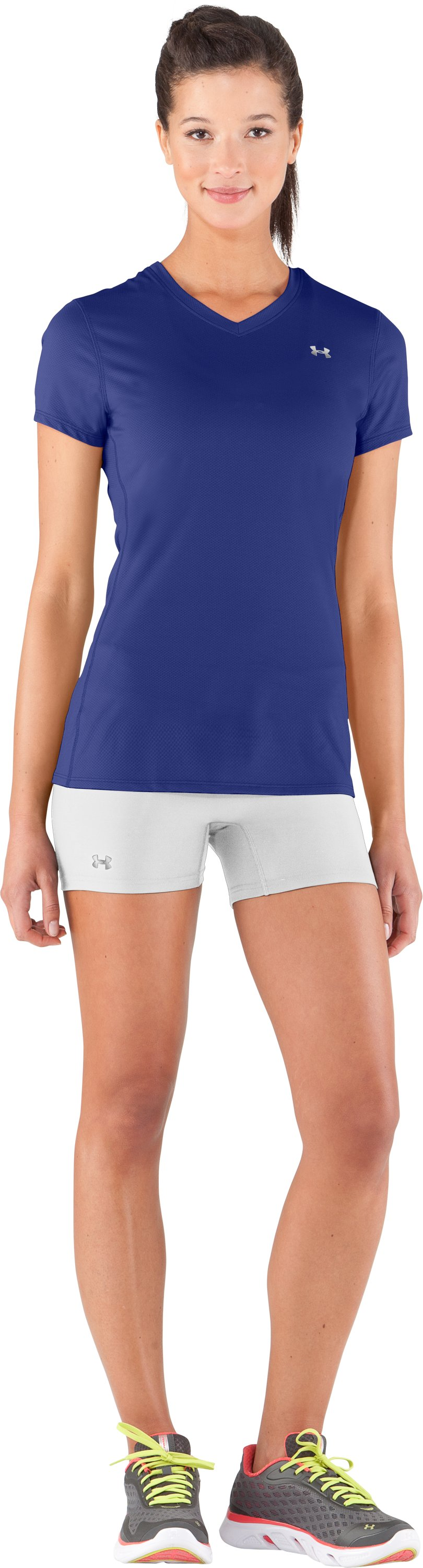 Women's UA Authentic Shorty, White, Front