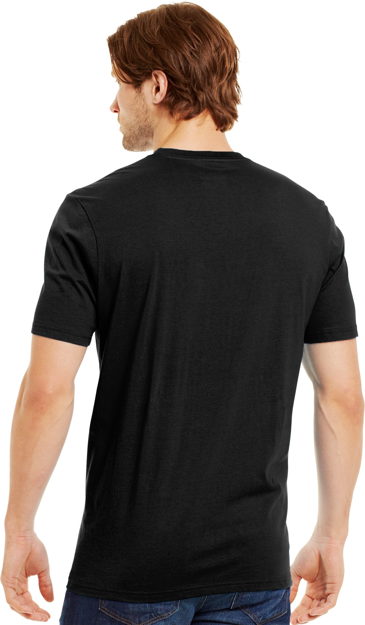 Men's UA Overlap T-Shirt, Black , Back