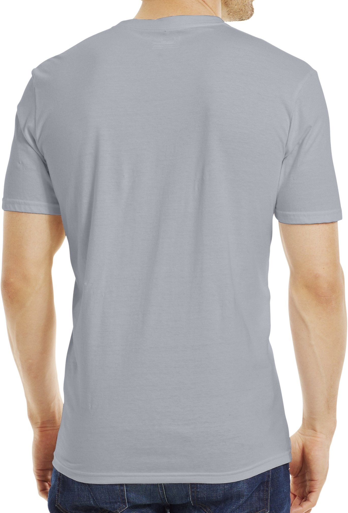 Men's UA Stamp T-Shirt, Steel, Back